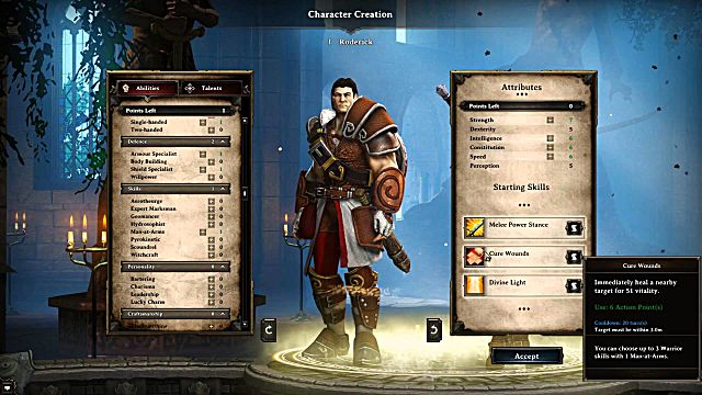Divinity: Original Sin 2 character creation
