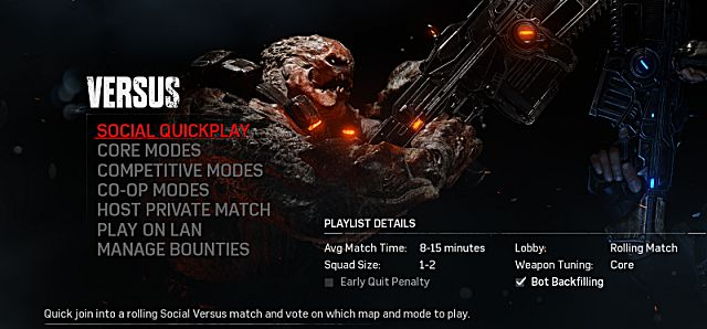 gears of war 4 multiplayer modes