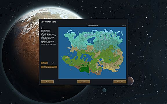 RimWorld landing site