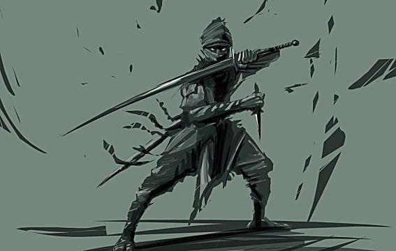 a shadowy ninja