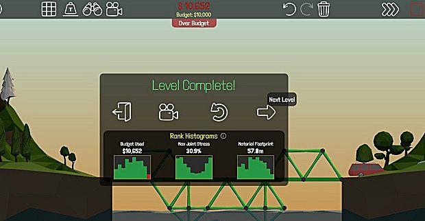 Poly Bridge level complete