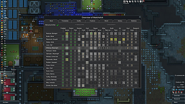 RimWorld skill tree