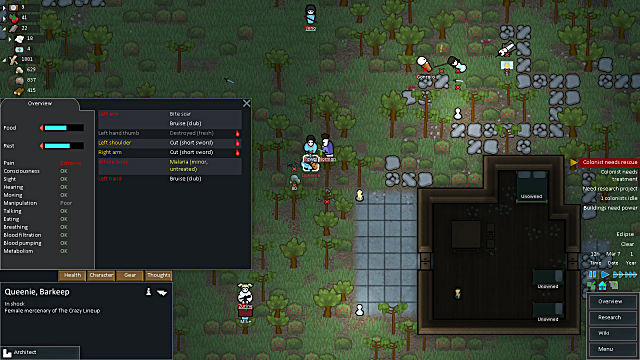 RimWorld first aid