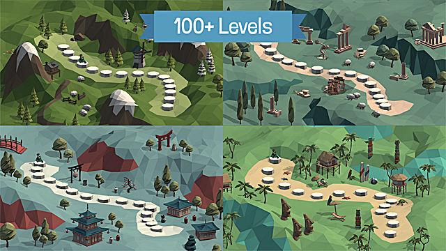 Poly Bridge levels world map
