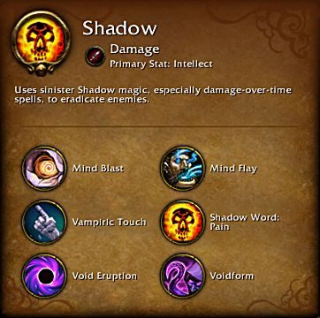 World of Warcraft Legion Shadow spec