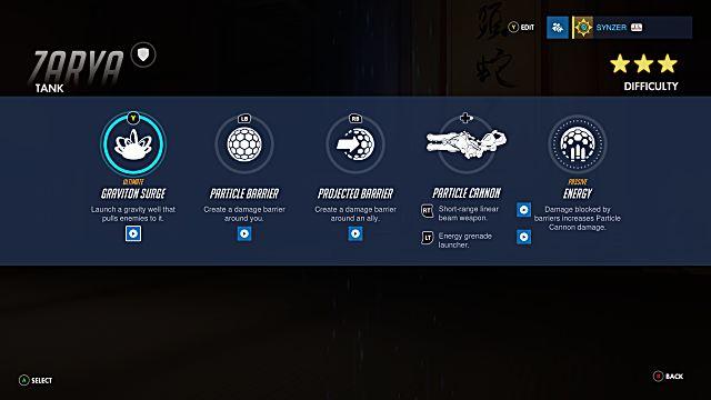 Overwatch Zarya abilities