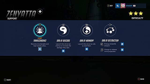 Overatch Zenyatta abilities
