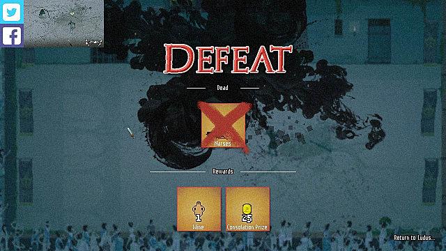 Domina, defeat, screen