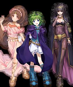 Linde, Nina, and Tharja