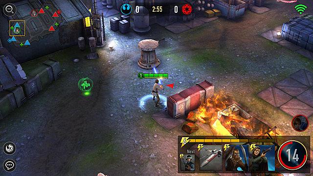 star wars force arena battle screen