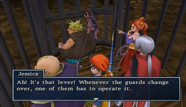 DQ8 Jessica Jail Cell