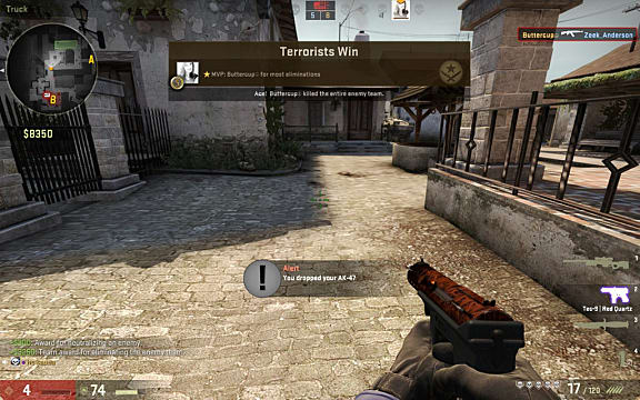 a typical screenshot from a game of Counter-Strike: Global Offensive