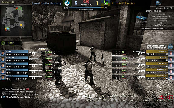 screen showing player loadouts and economies in CS:GO