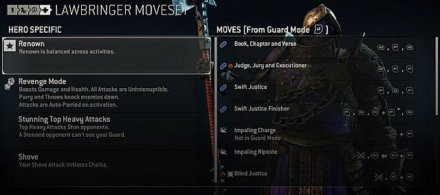 for honor lawbringer moves