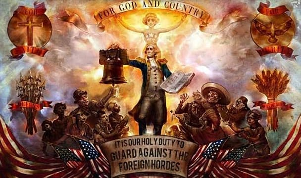 Bioshock Infinite, propaganda, for god