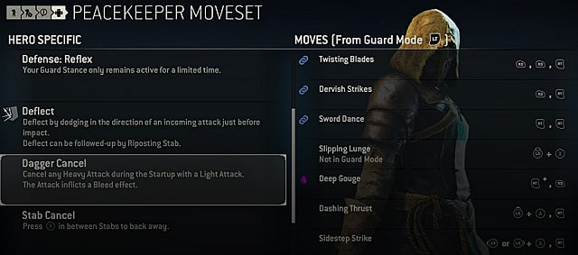 for honor peacekeeper moves