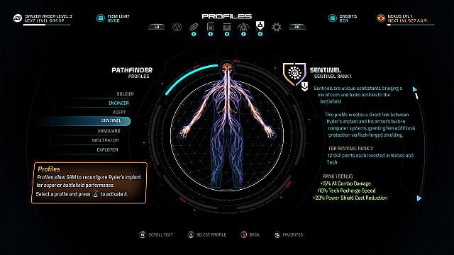 mass effect andromeda profiles