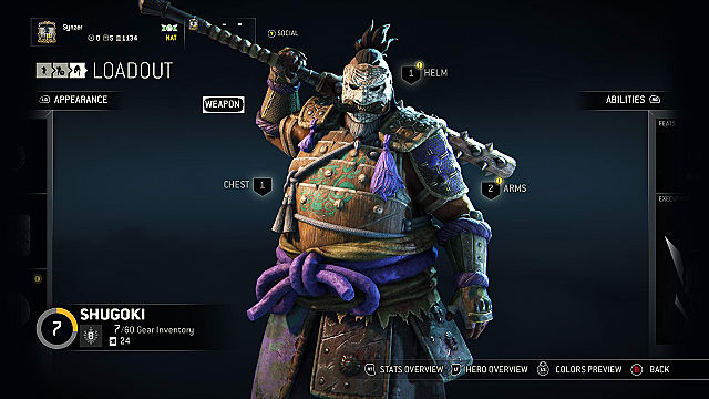 for honor gear