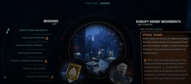 mass effect andromeda strike team missions