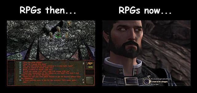RPGs now, RPGs then, nostalgia goggles