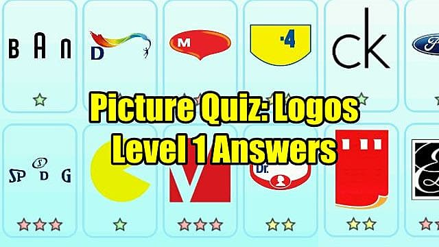 Picture Quiz: Logos - Level 1 Answers | Picture Quiz: Logos