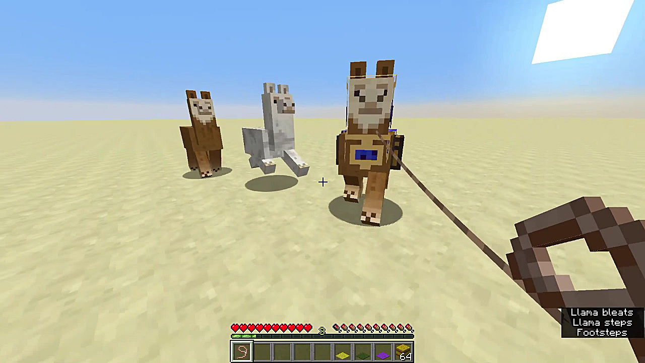 How To Ride Control And Breed Llama In Minecraft 1 11