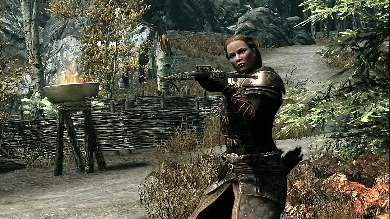 how to play skyrim special edition widescreen
