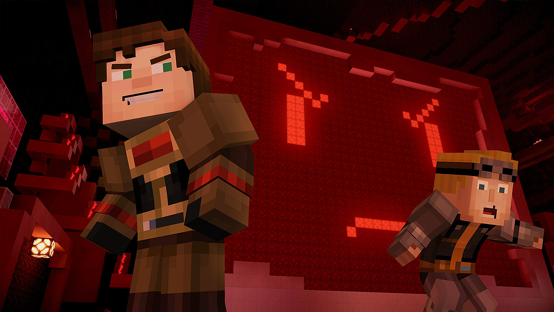 Minecraft story mode episode seven access denied ps4 review playstation universe - Minecraft story mode wallpaper ...