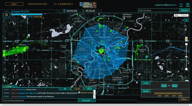 Ingress World Map
