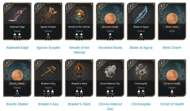 Paragon collectible cards