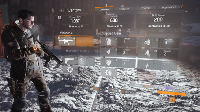 Tom Clancy's The Division skills talents perks
