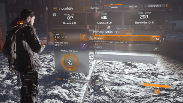 Tom Clancy's The Division character attributes