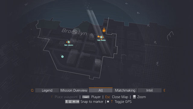 Tom Clancy's The Division map navigation