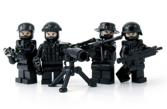 CIA Black Ops Lego Minifigure Team