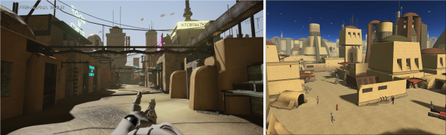 Comparison of new and old environments