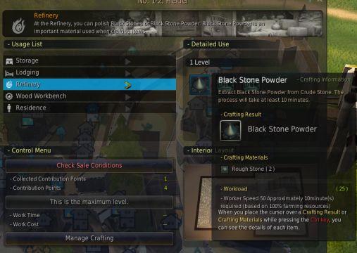 Black Desert Online Refinery