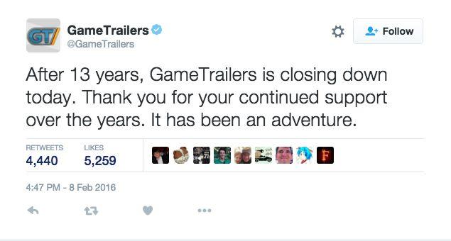 GameTrailers Twitter