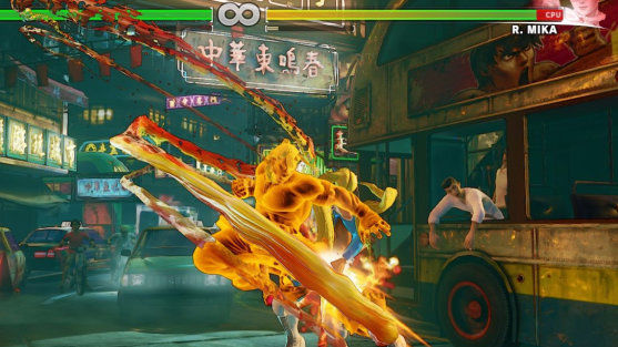 Street Fighter V combo