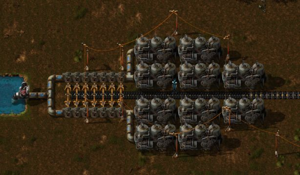 factorio electricity steam