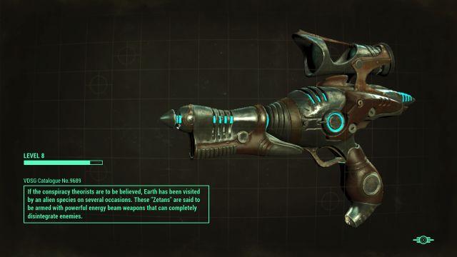 Upgraded Modded Alien Blaster Pistol Fallout 4