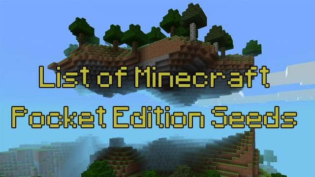 The 20 best minecraft pe seeds for lazy people on the go minecraft