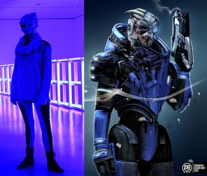 Garrus inspired outfit cosplay mass effect