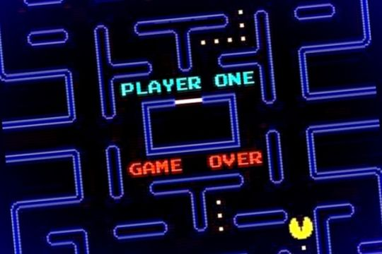 pacman game over screen