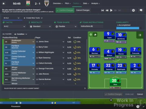 Screen shot of Football Manager's new UI.