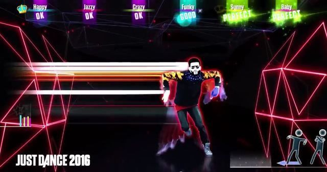 Gameplay shot from Just Dance 2016.