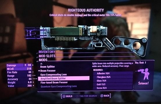 Fallout 4 energy weapon mods