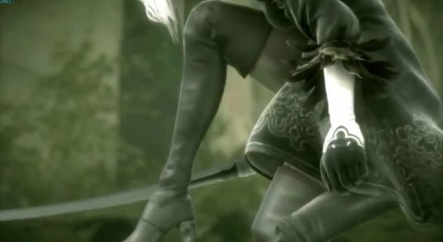 Screenshot from the announcement trailer for the new NieR project at E3 2015.