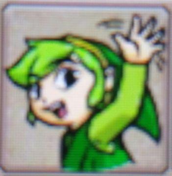Zelda Tri Force Heroes Placard Emotes Wave