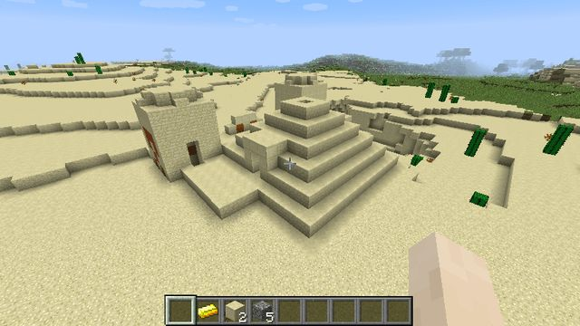 Desert Temple with Gold and Enchantments minecraft seed