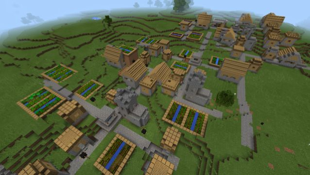 minecraft pe huge village triple seed mamaMOOSE